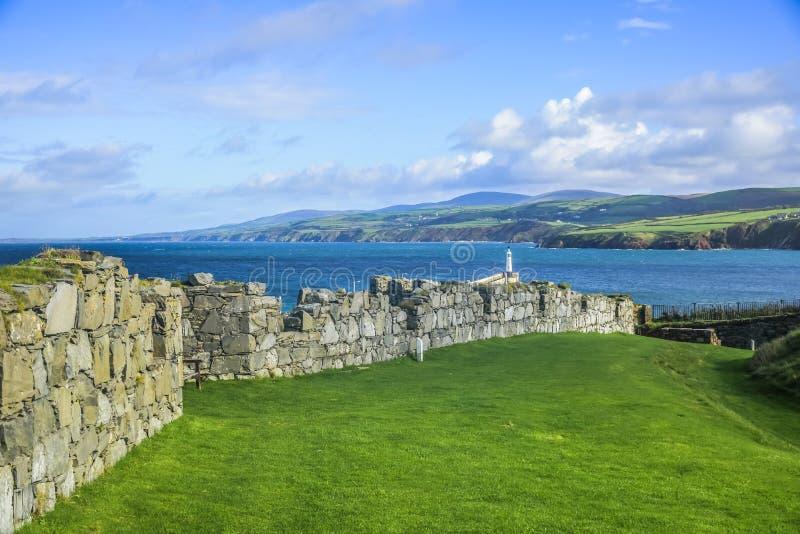 Vista del paesaggio dell'Isola di Man fotografia stock