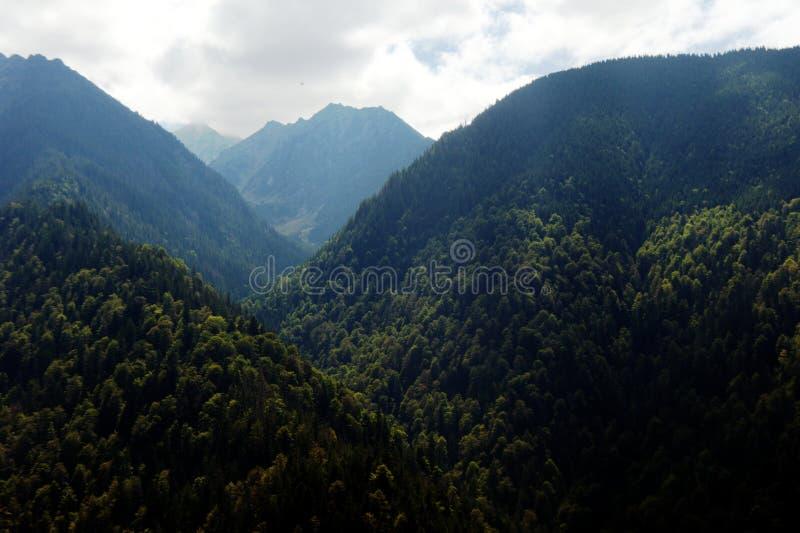 Vista del paesaggio della montagna di Fagaras fotografia stock