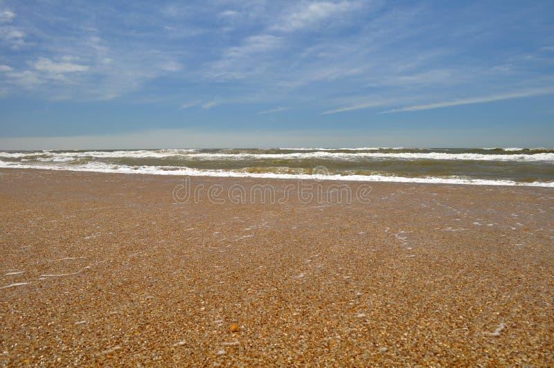 Vista del paesaggio della spiaggia di Pedrera della La in Rocha, Uruguay fotografie stock libere da diritti