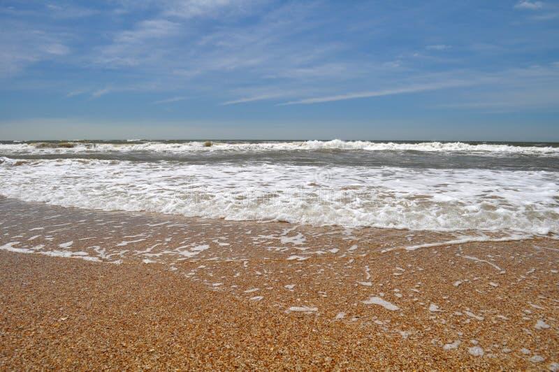 Vista del paesaggio della spiaggia di Pedrera della La in Rocha, Uruguay immagine stock