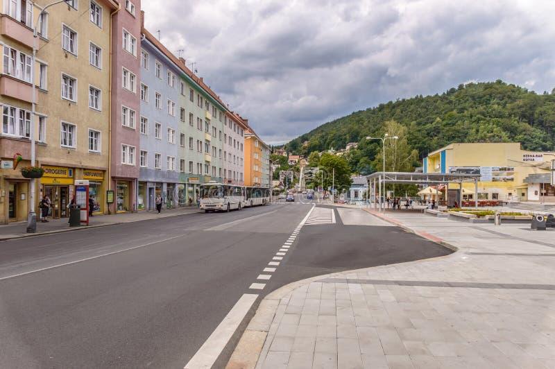 Vista del paesaggio di Decin in repubblica Ceca fotografie stock libere da diritti