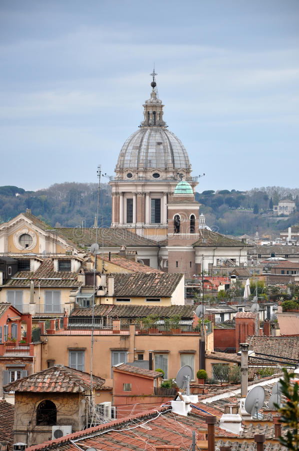 Vista del paesaggio di Roma fotografia stock
