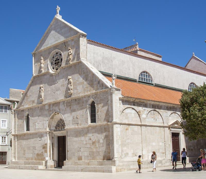 Vista del Pag en Croacia foto de archivo