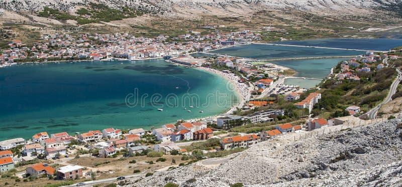 Vista del Pag en Croacia fotografía de archivo