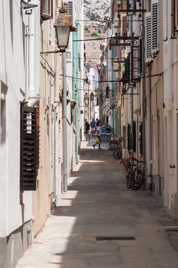 Vista del Pag en Croacia imagenes de archivo