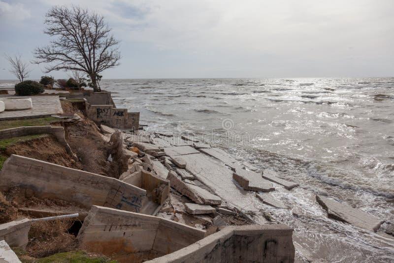 Vista del paisaje marino de la tormenta foto de archivo libre de regalías
