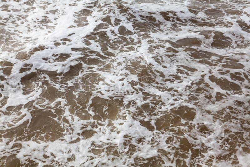 Vista del paisaje marino de la tormenta fotografía de archivo