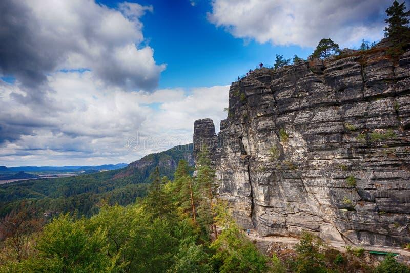 Vista del paisaje natural de Pravcicka brana imágenes de archivo libres de regalías