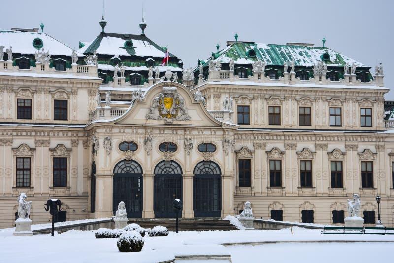 Vista del palacio superior del belvedere foto de archivo libre de regalías