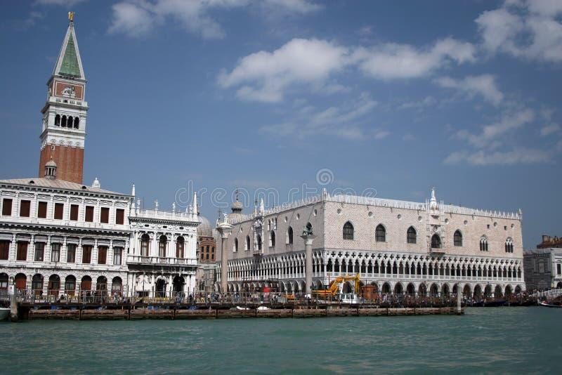 Vista del palazzo del Doge, Venezia fotografia stock libera da diritti