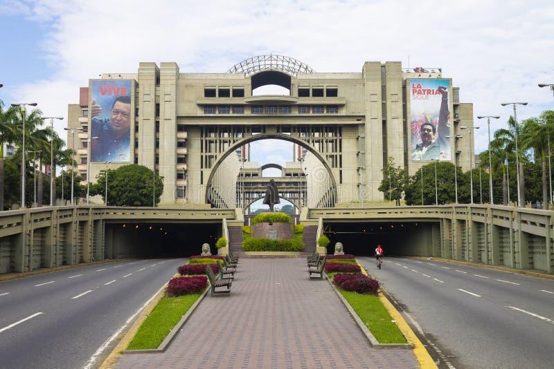 Vista del palazzo di giustizia del Venezuela a Caracas, Venezuela immagine stock libera da diritti