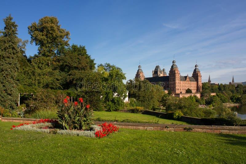 Vista del palazzo di Johannisburg fotografia stock