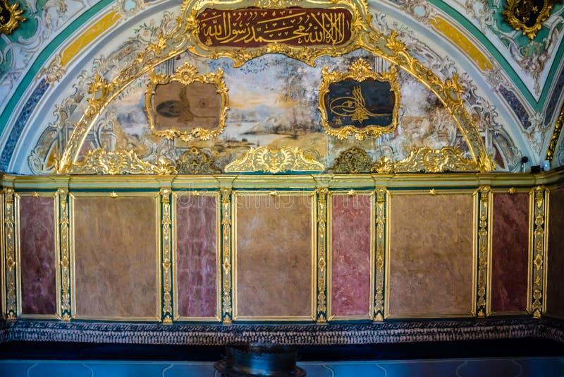 Vista del palazzo di Topkapi a Costantinopoli, Turchia immagini stock libere da diritti
