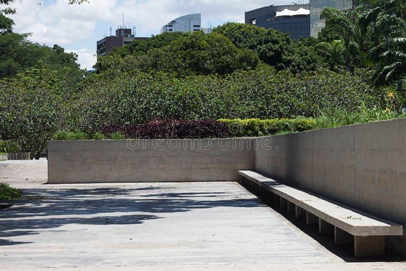 Vista del parco orientale, Caracas fotografia stock