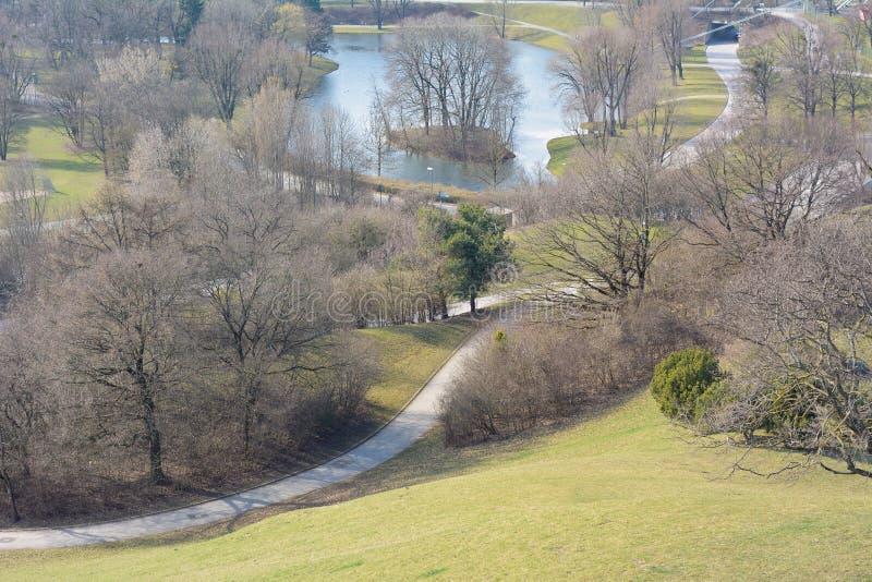 Vista del parco ricreativo fotografie stock libere da diritti