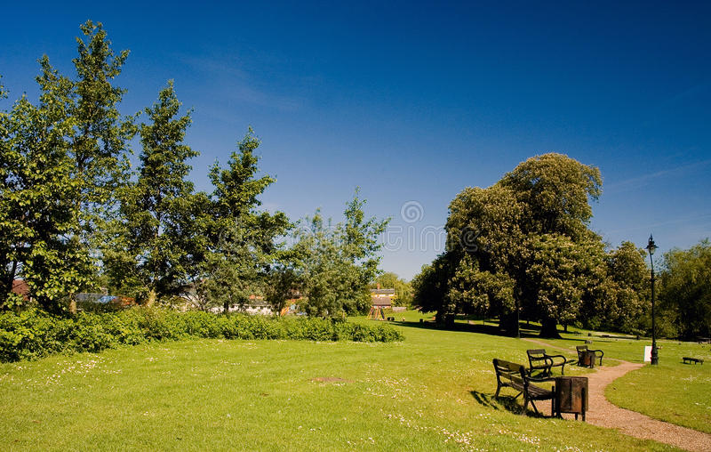 Vista del parque de Diss en verano foto de archivo libre de regalías