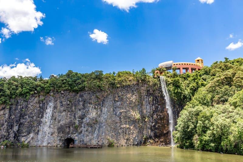 Vista del parque de Tangua CURITIBA, PARANA/BRAZIL fotografía de archivo libre de regalías