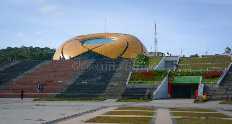 Vista del parque de Yersin en la ciudad de Dalat, Lam Dong, Vietnam imagen de archivo