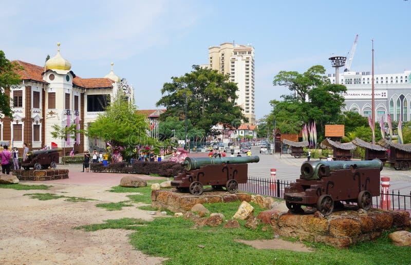 Vista del parque en Melaka, Malasia fotografía de archivo