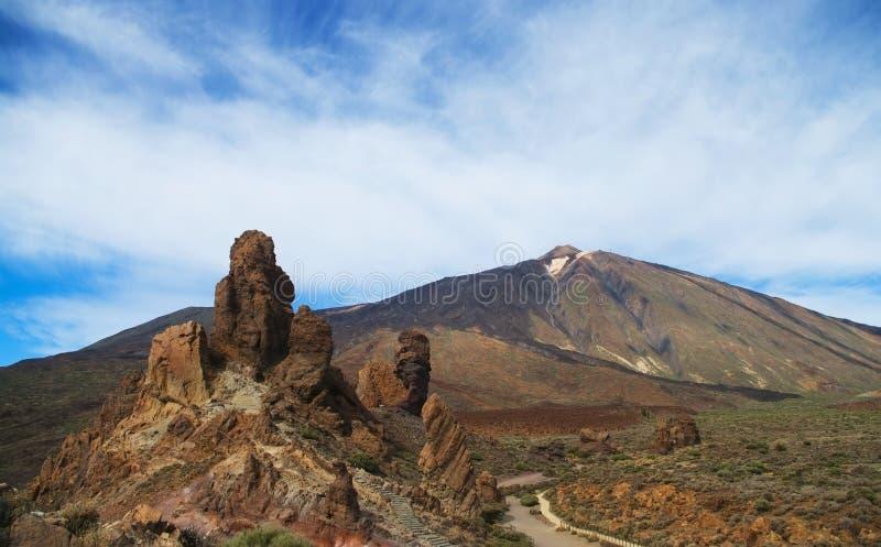 Vista del parque nacional de Teide fotografía de archivo