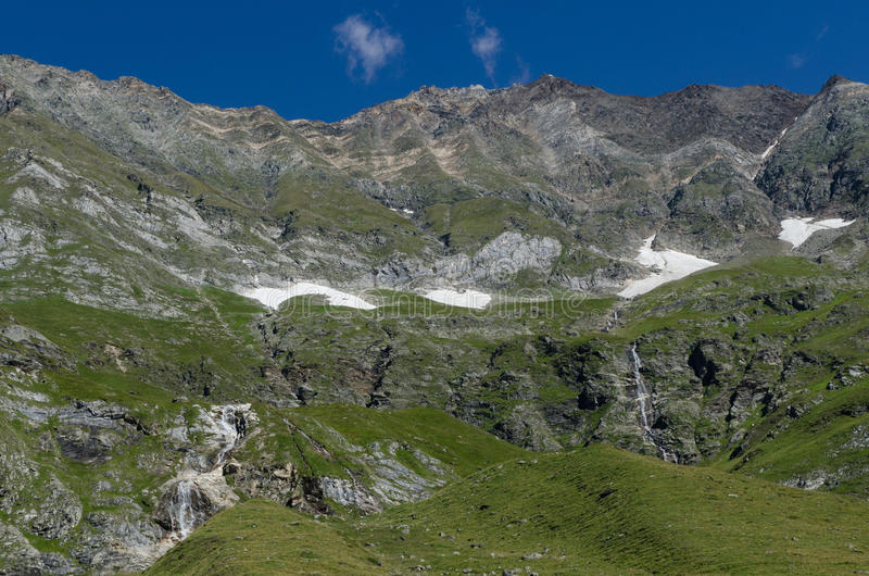 Vista del passiria Bolzano della valle fotografia stock