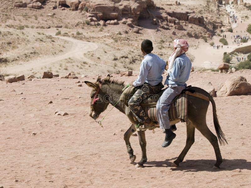 Vista del Petra del burro fotografía de archivo libre de regalías