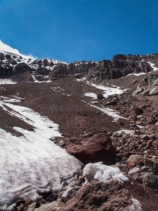 Vista del picco di Chimborazo del supporto immagine stock libera da diritti