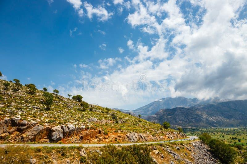 Vista del plateau di Lasithi su Creta fotografie stock libere da diritti