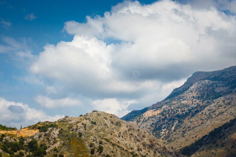 Vista del plateau di Lasithi sull'isola di Creta fotografie stock libere da diritti