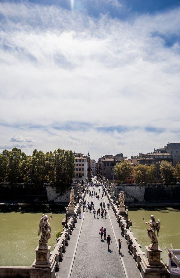 Vista del ponte dal castello degli angeli immagine stock libera da diritti
