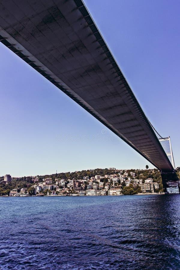 Vista del ponte di Bosphorus fotografie stock libere da diritti