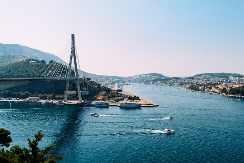 Vista del ponte in Ragusa immagini stock libere da diritti
