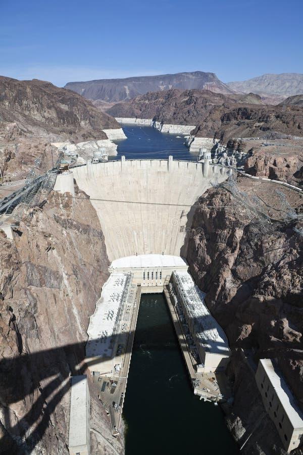 Vista del ponticello della diga di Hoover fotografia stock libera da diritti