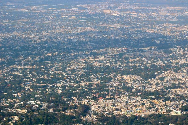 Vista del Port-au-Prince fotografie stock libere da diritti