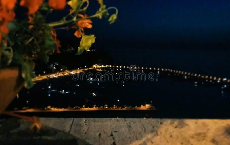 Vista del Porto Di Agropoli, Agropoli schronienie - obraz stock