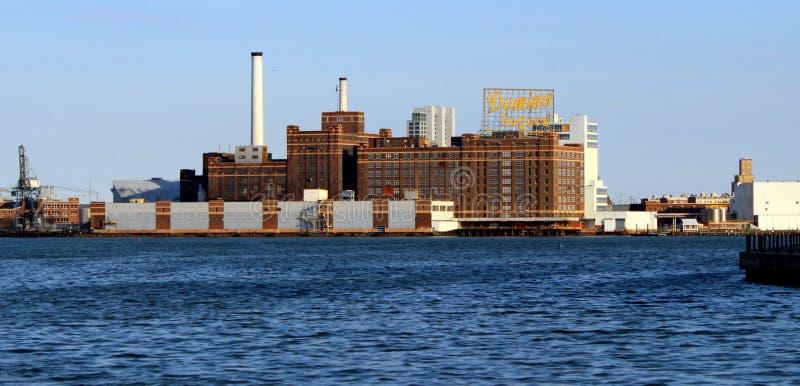 Vista del porto di Baltimora Maryland fotografie stock