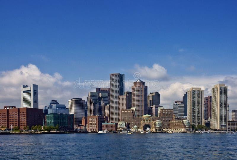Vista del porto di Boston del centro immagini stock libere da diritti