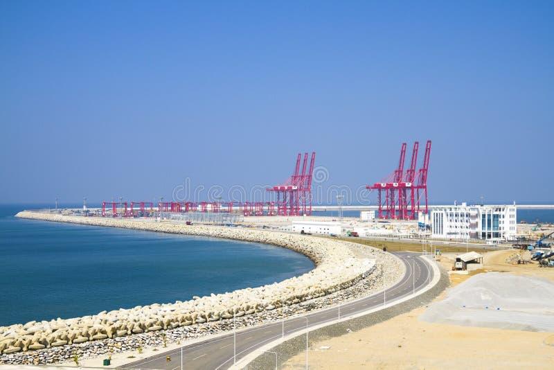 Vista del porto di Colombo, Sri Lanka fotografia stock libera da diritti