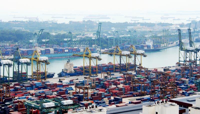Vista del porto di Singapore fotografie stock