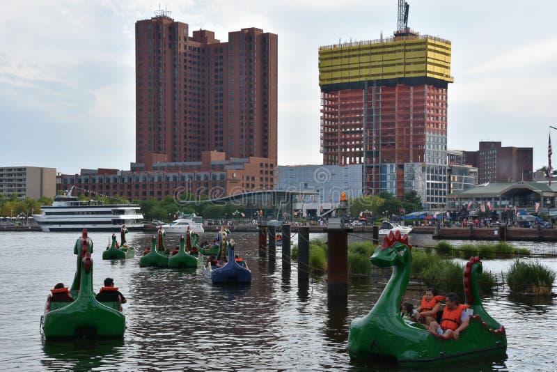 Vista del porto interno a Baltimora, Maryland immagine stock libera da diritti