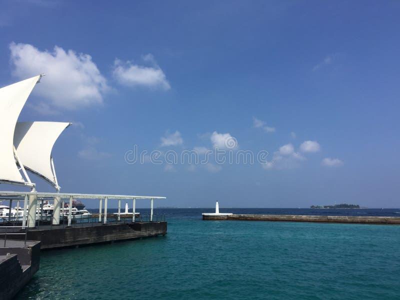 Vista del porto maschio immagini stock libere da diritti