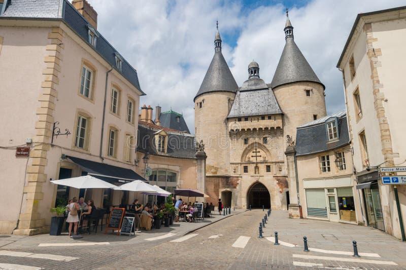 Vista del portone di Porte de la Craffe Craffe a Nancy, Francia immagini stock libere da diritti