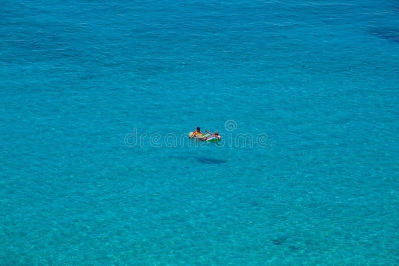 Vista del posto del mare più famoso di Lampedusa, conigli di dei di Spiaggia fotografia stock