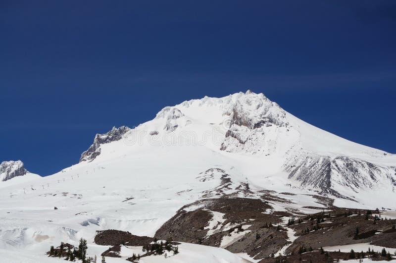 Vista del primo piano del cappuccio di Mt immagini stock
