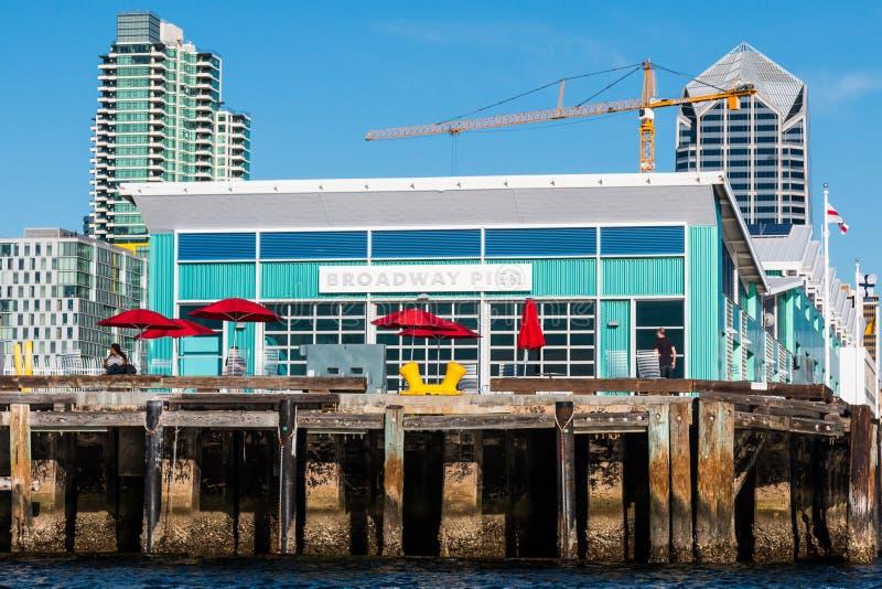 Vista del primo piano del terminale della nave da crociera della via di B immagini stock
