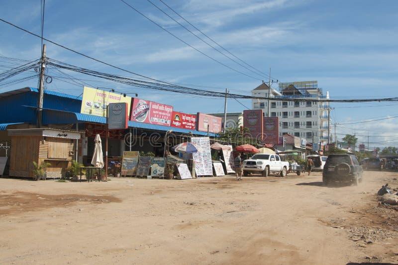 Vista del pueblo de Otres en Camboya imágenes de archivo libres de regalías