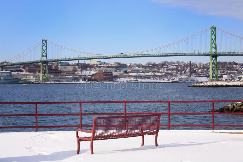 Vista del puente fotografía de archivo