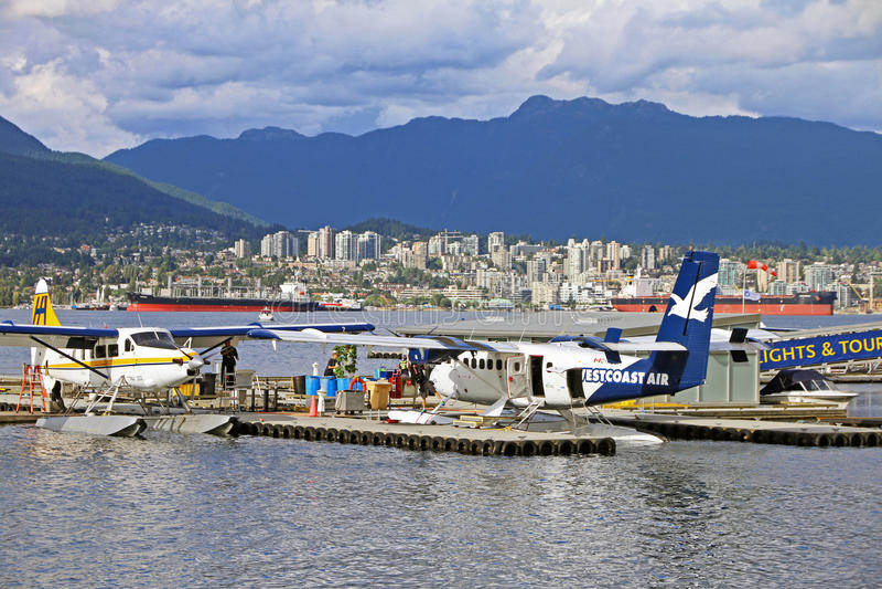 Vista del puerto del carbón de Vancouver imagen de archivo libre de regalías