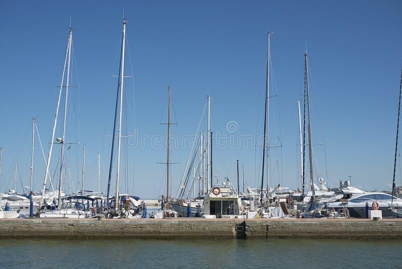Vista del puerto deportivo de Cervia fotografía de archivo libre de regalías