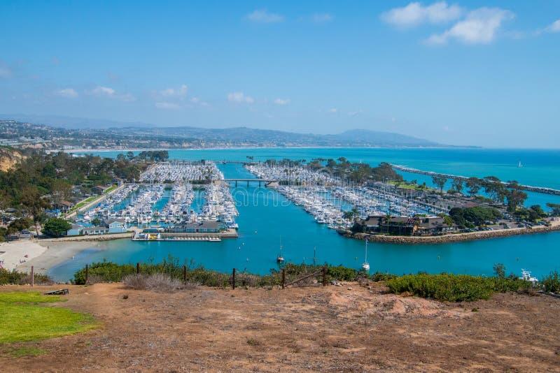 Vista del puerto deportivo hermoso desde arriba fotos de archivo libres de regalías